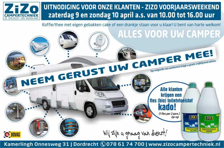 Voorjaarsweekend voor alle klanten ZiZo Campertechniek 900